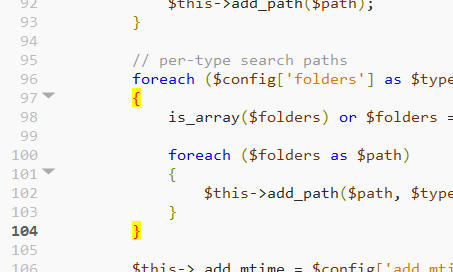 Coffeescript braces highlighting