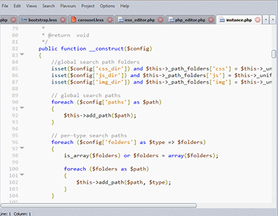 Coffeescript editor screenshot