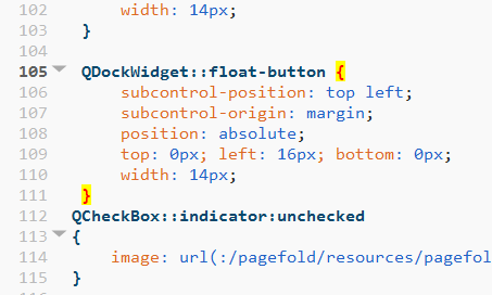 CSS braces highlighting